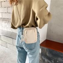 韓國設計新款個性抽繩mini迷你胸包斜背包單肩女包時尚休閒小包手機包方便攜帶