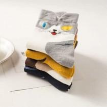 可愛貓咪造型短襪條紋貓小花貓造型女短襪動物百搭襪子