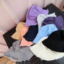 文青文藝女孩百搭漁夫帽造型女帽盆帽遮陽防曬熱賣款帽子