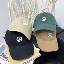 和平刺繡造型復古色系老帽鴨舌帽防曬造型棒球帽男帽女帽情侶帽