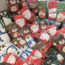 聖誕老人雪人麋鹿可愛系列造型保暖可收式毛毯空調毯客廳毯禮品首選聖誕交換禮物