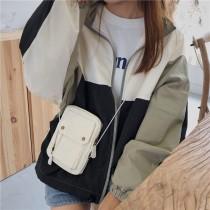 韓國設計新款個性抽繩MINI迷你金屬釦口袋隨興個性百搭小包斜背包肩背小女包