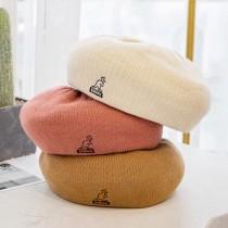 帽子女秋冬毛呢格子貝蕾帽日本代購英倫網紅八角貝蕾帽復古畫家帽