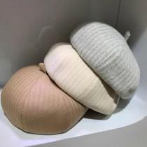 韓國熱賣款優雅燈心絨材質貝蕾帽畫家帽造型保暖百搭女帽