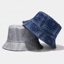 潮流人士必備變形蟲花紋雙面戴造型漁夫帽盆帽時髦男帽女帽情侶帽