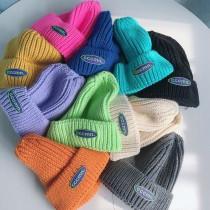 秋冬時髦螢光色系針織冷帽潮流毛帽造型保暖男帽女帽情侶帽閨蜜帽