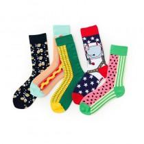 可愛圖潮流中筒襪KUSO造型滑板襪運動襪情侶長襪男襪女襪