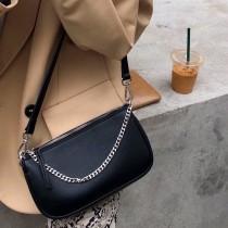 韓國街頭時髦多背法包包斜背單肩包手提黑色簡約流行款復古俏皮酷帥鏈條包