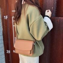 韓國方形挺版優雅氣質可愛小方包肩背女包測背小包四季百搭小包