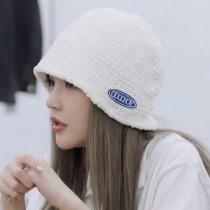 周揚青潮流合夥人2同款雪尼爾針織造型保暖鐘型帽潮流漁夫帽盆帽