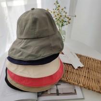 圓臉適合的帽子女渡假浪漫帽可折疊大檐遮陽防曬帽氣質優雅漁夫帽可調整頭圍女盆帽