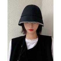 漁夫帽女帽子防曬遮陽造型百搭黑白色系水桶帽盆帽韓國網紅同款太陽帽日系鐘型帽