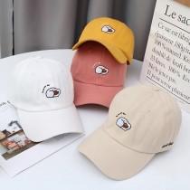 韓國可愛卡通造型刺繡小鴨棒球帽老帽防曬遮陽帽子男帽女帽團體帽