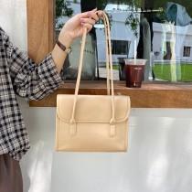 百搭公文包包女新款潮復古手提包設計學院風格翻蓋式單肩背女包