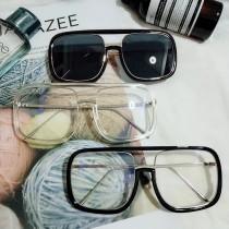 明日之子華晨宇李宇春同款眼鏡潮女太陽鏡大框鏡造型四方透明框平光鏡墨鏡