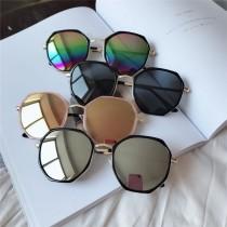 夏季多邊形設計款反光鏡時髦潮流帥氣個性墨鏡出遊必備太陽眼鏡