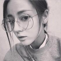 明星同款多線條流線圓形金屬框造型眼鏡特色質感百搭眼鏡