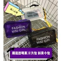 韓系潮流果凍斜背小包肩側背手機包時髦出國護照包手拿包