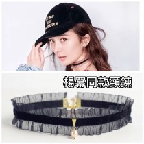 日韓系氣質蕾絲珍珠時髦頸鍊短鍊流行項鍊