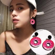日本原宿創意可愛特色甜甜圈壓克力造型耳環