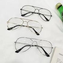網紅必備潮流時髦雷朋造型金屬鏡框氣質個性平光眼鏡防曬眼鏡