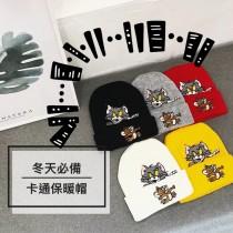 卡通刺繡造型潮流冷帽毛帽保暖棉質設計