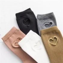 日韓系縷空愛心裸色素款中低筒襪學院風百搭襪子