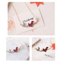 韓國美人魚浪漫甜美鎖骨項鍊造型短項鍊