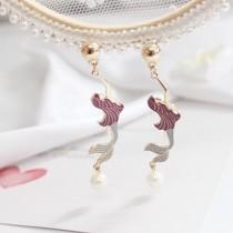韓國美人魚浪漫甜美造型耳釘耳環精緻輕巧柔美耳環