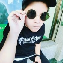 明星同款復古潮流嘻哈復古圓形彩色鏡面太陽眼鏡墨鏡