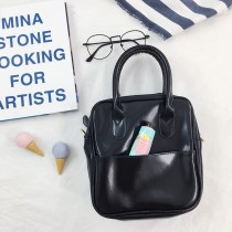 熱賣款學院風復古手提韓國正方形包斜背包肩背包手提包