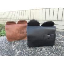 米奇造型蝴蝶結復古小包斜背包肩側背手拿手機包
