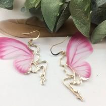 韓國蝴蝶造型金屬縷空小精靈氣質甜美垂墜飾品