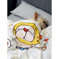 Q版法國鬥牛犬造型絨毛毛毯寵物用品狗狗毯貓咪毯