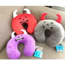 萌萌怪物KUSO可愛造型U型枕飛機枕護頸枕生活用品