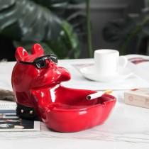 萌狗法國鬥牛犬造型置物盤造型菸灰缸生活用品送禮首選