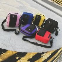 閃電造型方型小包手機包潮流肩背包斜背包胸背包男包女包