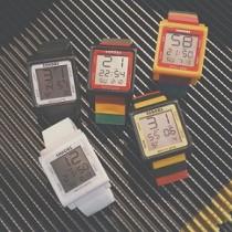 樂高彩色顏色方形大錶鏡設計電子錶百搭潮男潮女簡約手錶