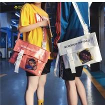 果凍糖果色郵差包書包潮流包肩背斜背時髦學院風格包休閒包