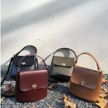熱賣款素款方形韓國手提小包斜背包肩背包氣質手提水桶小包