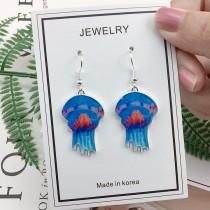 韓國創意手作水母造型耳環設計感垂墜飾品