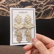 歐美風格金色不規則個性時髦誇張造型耳環
