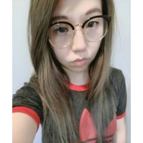 文藝青年氣質金屬框眼鏡半框金屬邊眼鏡框男鏡女鏡