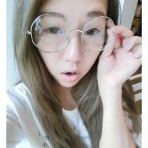 2019八角形造型金屬框眼鏡潮流時髦眼鏡