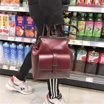 日系學院風格造型復古皮革三用後背包肩背包斜背包手拿包