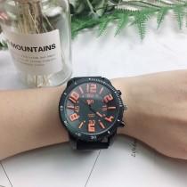 韓國潮流個性帥氣超大錶鏡立體顏色數字男錶女錶情侶手錶