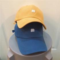 M&m刺繡英文字復古色系老帽棒球帽潮流帽鴨舌帽男帽女帽